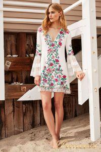 Вечернее платье BDB18423S white dahlia. Цвет шампань. Вид 1