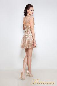 Коктейльное платье 1039. Цвет золото. Вид 2