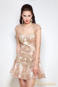 Коктейльное платье 1039. Цвет золото. Вид 1