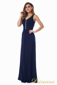 Вечернее платье №10058N. Цвет синий. Вид 3