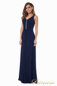 Вечернее платье №10058N. Цвет синий. Вид 4
