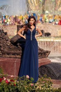 Вечернее платье NF-10058-navy. Цвет синий королевский . Вид 1