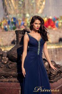 Вечернее платье NF-10058-navy. Цвет синий королевский . Вид 2
