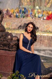 Вечернее платье NF-10058-navy. Цвет синий королевский . Вид 3