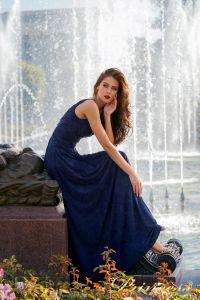 Вечернее платье NF-10058-navy. Цвет синий королевский . Вид 4