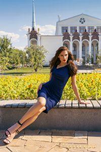 Коктейльное платье NF-1029. Цвет синий королевский . Вид 2
