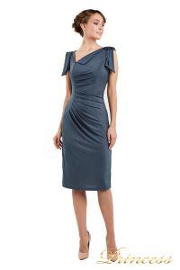 Коктейльное платье 1029 dark grey. Цвет стальной. Вид 1