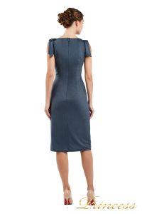Коктейльное платье 1029 dark grey. Цвет стальной. Вид 2