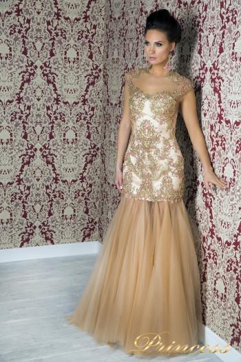 Вечернее платье 1049. Цвет розовый. Вид 1