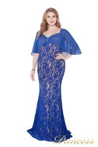 Вечернее платье 1051622 blue. Цвет электрик . Вид 1