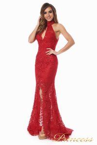 Вечернее платье 1057. Цвет красный. Вид 2