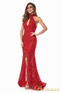 Вечернее платье 1057. Цвет красный. Вид 1
