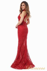 Вечернее платье 1057. Цвет красный. Вид 3