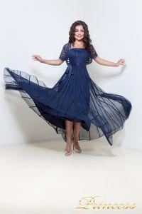 Вечернее платье 1073. Цвет синий. Вид 2
