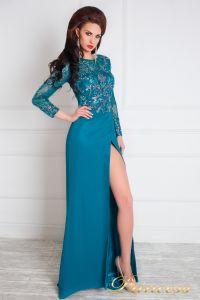 Вечернее платье 1089. Цвет зеленый. Вид 3