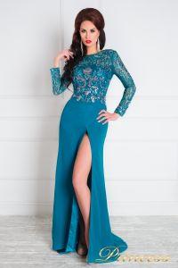 Вечернее платье 1089. Цвет зеленый. Вид 1