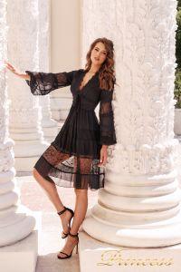 Коктейльное платье NF109034- black. Цвет чёрный. Вид 3