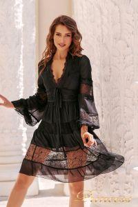 Коктейльное платье NF109034- black. Цвет чёрный. Вид 1