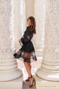 Коктейльное платье NF109034- black. Цвет чёрный. Вид 2