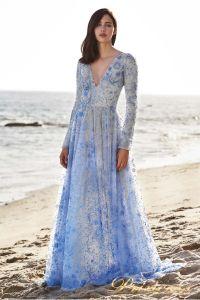 Вечернее платье Tadashi Shoji BDI18484LB. Цвет цветное . Вид 1