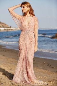 Вечернее платье Tadashi Shoji BDI18487LB ROSE. Цвет розовый. Вид 1