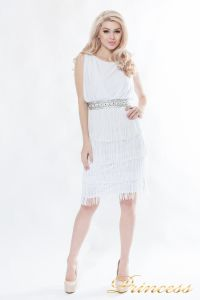 Коктейльное платье 1147-white. Цвет белый. Вид 2
