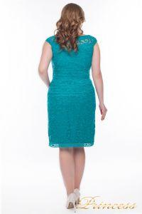 Коктейльное платье  9164S_aqua. Цвет зеленый. Вид 3