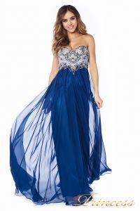 Вечернее платье 12015M. Цвет синий. Вид 3