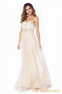 Вечернее платье 12015N. Цвет шампань. Вид 2