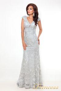 Вечернее платье 12026_silver. Цвет стальной. Вид 3