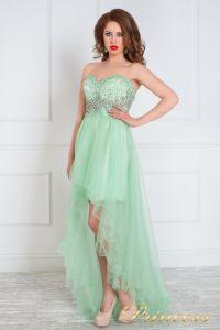Вечернее платье на выпускной 12050. Цвет салатовый. Вид 1