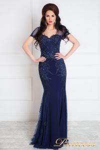 Вечернее платье 12079. Цвет синий. Вид 3