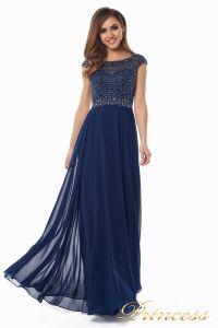 Вечернее платье 12083-1 navy. Цвет синий. Вид 8
