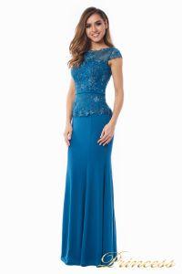 Вечернее платье 12084_teal. Цвет голубой. Вид 2