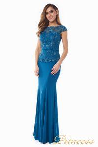 Вечернее платье 12084_teal. Цвет голубой. Вид 3