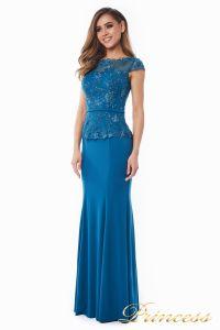 Вечернее платье 12084_teal. Цвет голубой. Вид 4