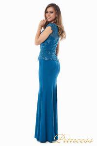 Вечернее платье 12084_teal. Цвет голубой. Вид 5