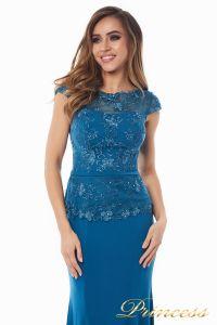 Вечернее платье 12084_teal. Цвет голубой. Вид 1