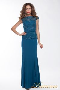 Вечернее платье 12084. Цвет синий. Вид 2