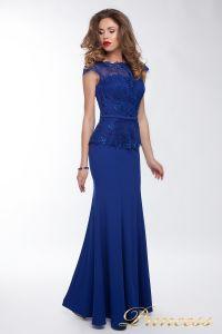 Вечернее платье 12084. Цвет синий. Вид 3