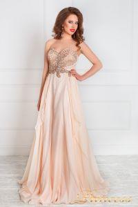 Вечернее платье 12018. Цвет розовый. Вид 1