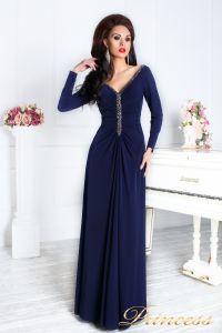 Вечернее платье 13218. Цвет синий. Вид 3