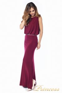Вечернее платье 1144 Marsala . Цвет красный. Вид 4