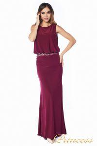 Вечернее платье 1144 Marsala . Цвет красный. Вид 5