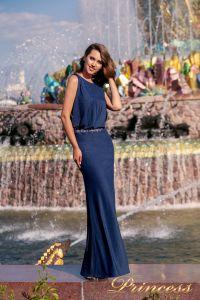 Вечернее платье NF-1144-navy. Цвет синий королевский . Вид 1