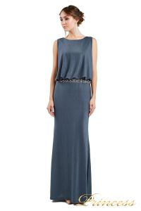Вечернее платье 1144 dark grey. Цвет стальной. Вид 1