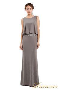 Вечернее платье 1144 dark khika. Цвет стальной. Вид 1