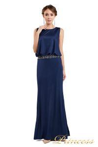 Вечернее платье 1144 Starry night. Цвет navy. Вид 1
