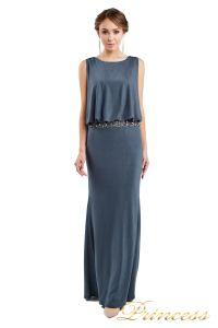 Вечернее платье 1144 dark grey. Цвет стальной. Вид 2