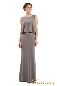 Вечернее платье 1144 dark khika. Цвет стальной. Вид 2